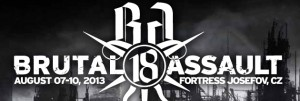 BRUTAL ASSAULT 2013 – JOSEFOV FORTRESS WILL BE IN FLAMES!
