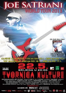 JOE SATRIANI SUTRA U TVORNICI KULTURE!
