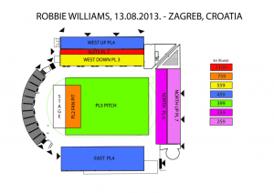 Robbie Williams Maksimir mapa