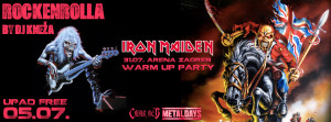 Rockenrolla - 05.07.2013. - Iron Maiden warm up party flyer